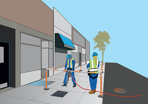 Temporary Cables – Street and Sidewalk Repairs