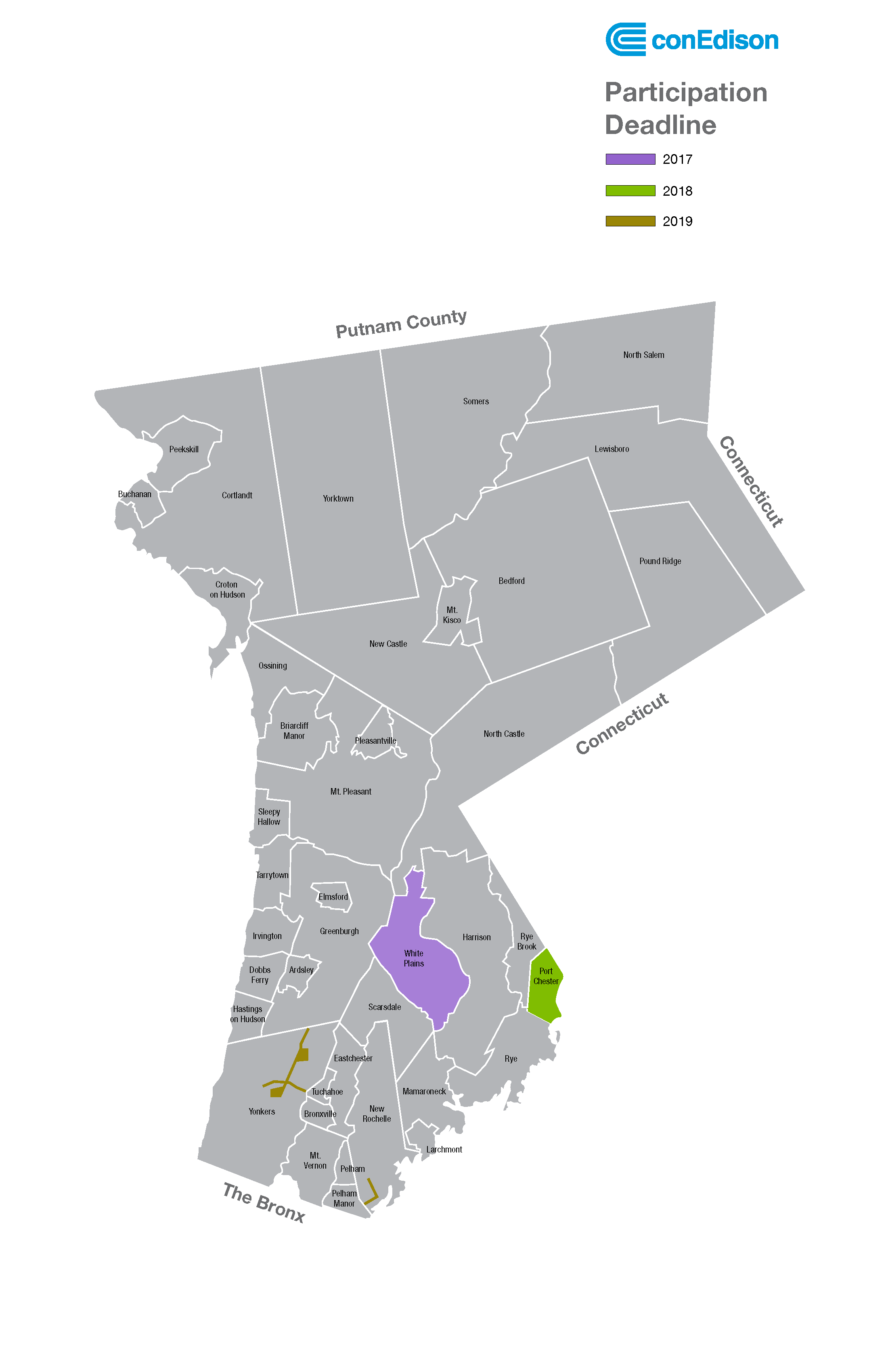 Westchester Area Growth Map—2018