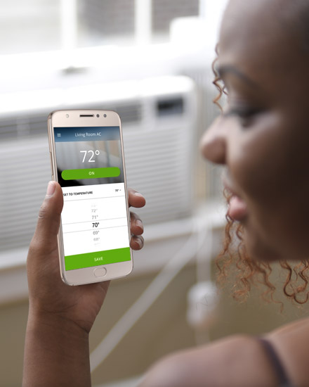 Photo of a smart air conditioner modlet