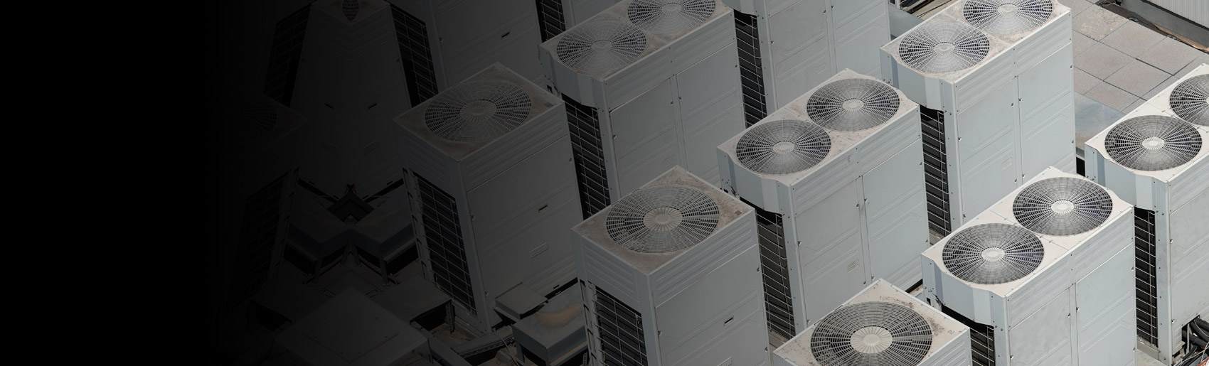 Several variable refrigerated flow units, with single and dual flow fans.