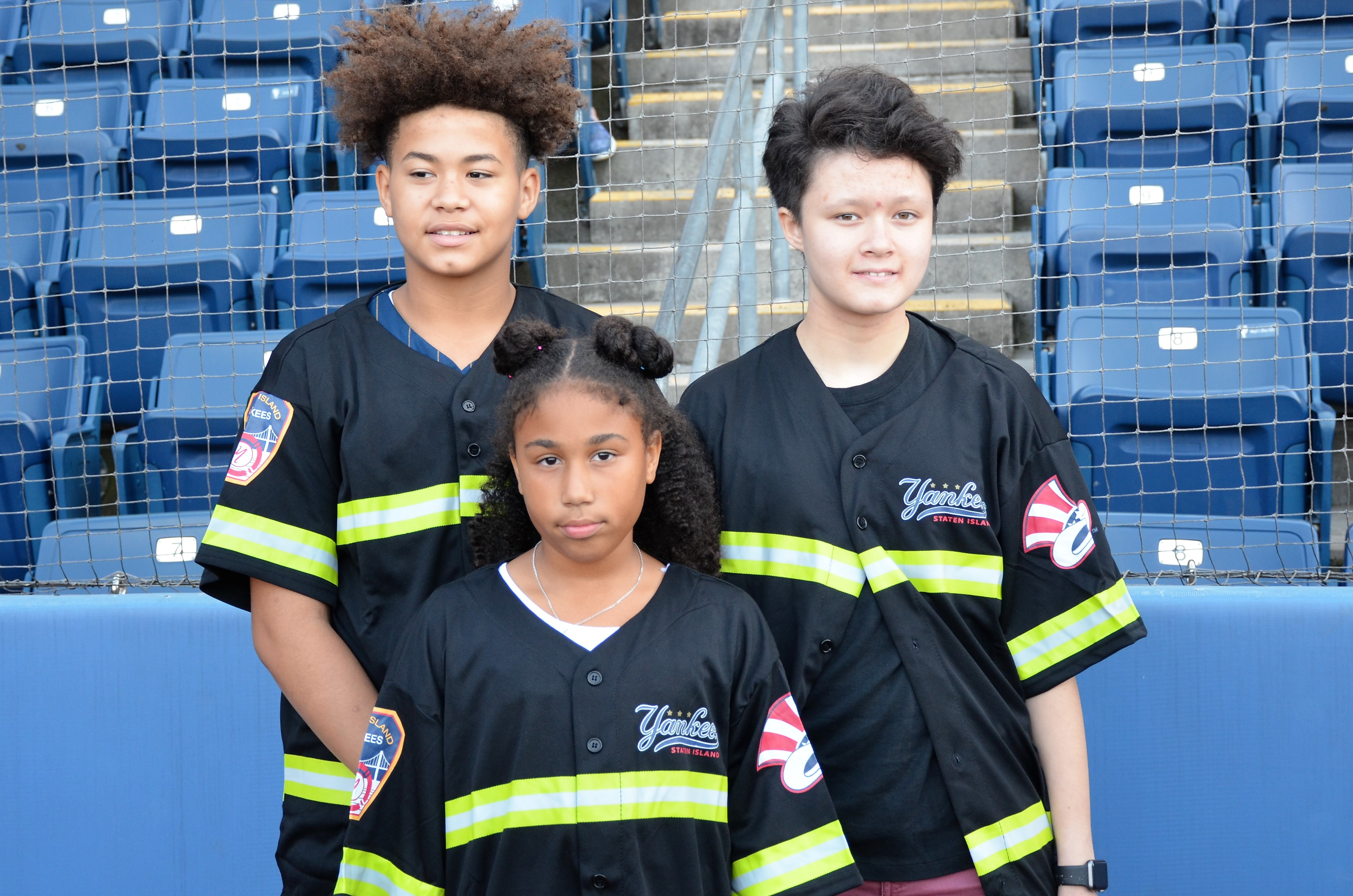 Staten Island Yankees/Con Edison Kids are celebrated for their accomplishments during a ceremony at the Richmond County Bank Ballpark