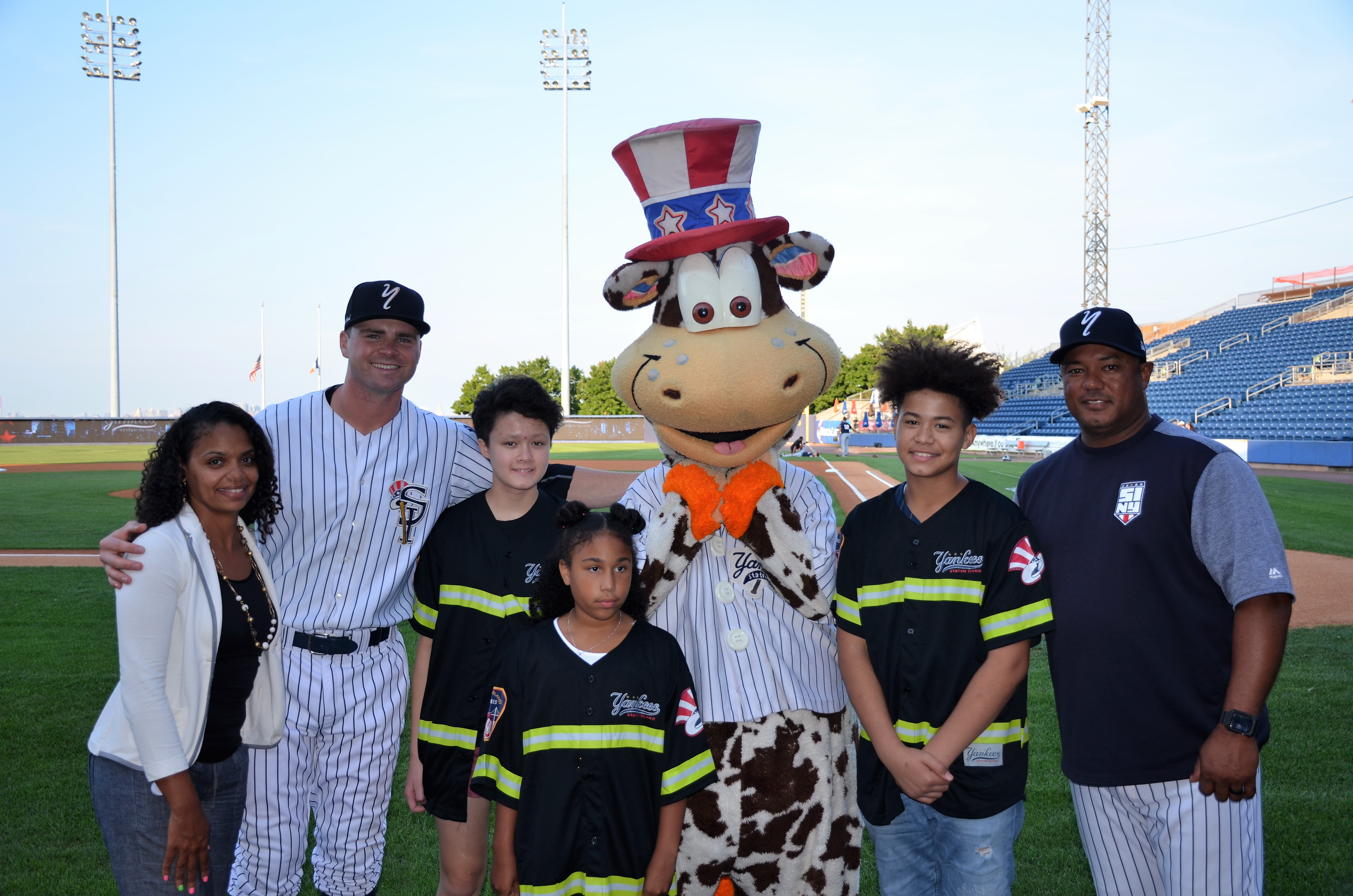2017 Staten Island Yankees/Con Edison Kids recognized for their contributions to the community.