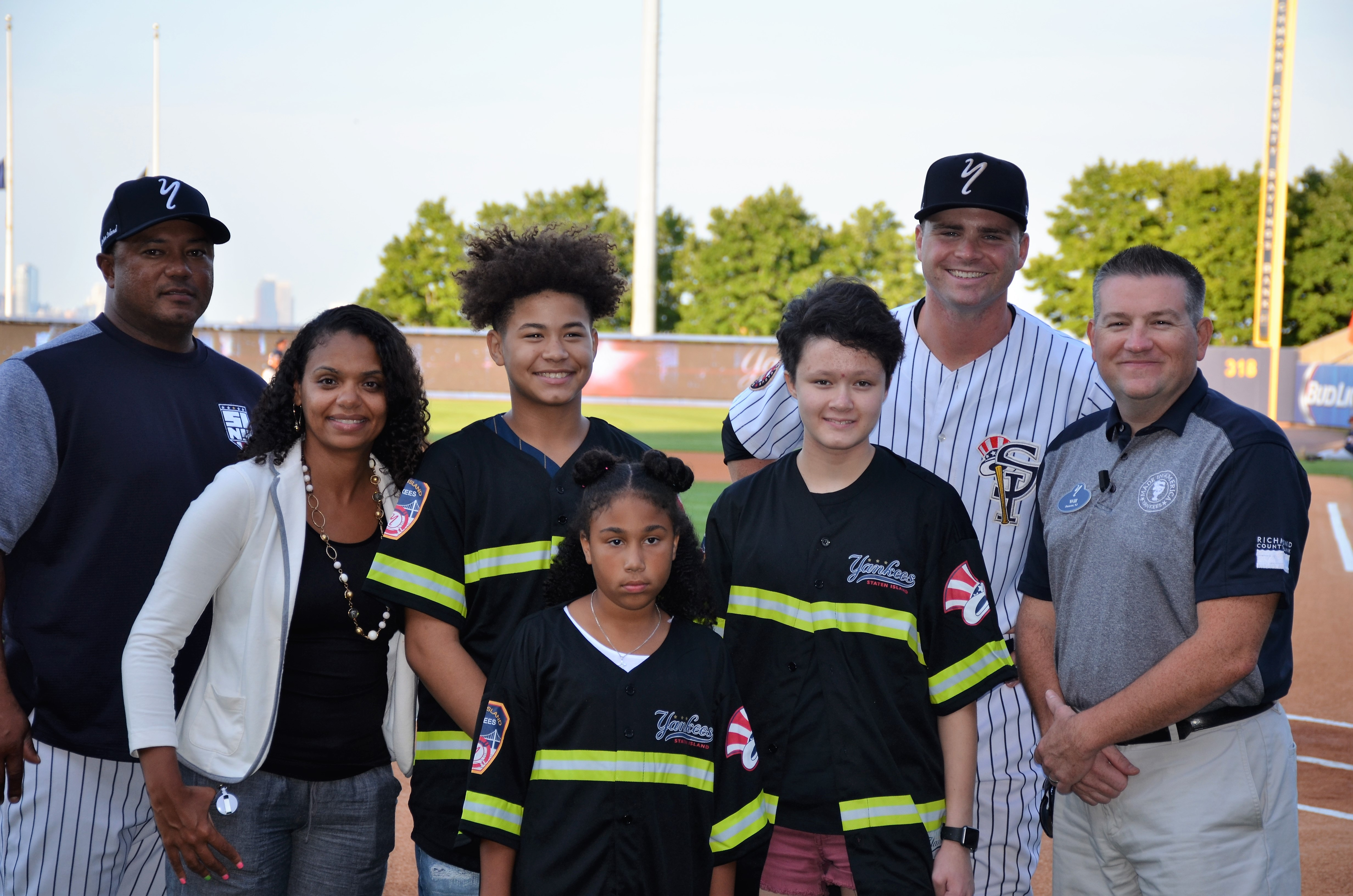 Staten Island Yankees/Con Edison Kids are celebrated for their accomplishments during a ceremony at the Richmond County Bank Ballpark.