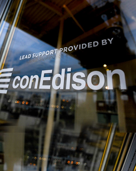"A window displaying the following message: ""Lead Support Provided by conEdison."""